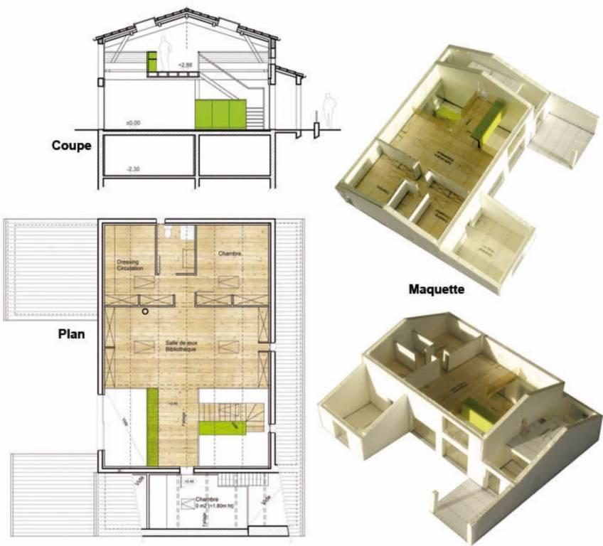 Construction de villa dans le cadre du march d 39 entreprise for Plan de combles